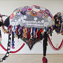 Joana Vasconcelos: Valquíria Enxoval (2009) |  VISUAL Centre for Contemporary Art  Old Dublin Road, Carlow | Saturday 7 June to Sunday 31 August 2014 | to