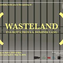 Eva Koťátková and Dominik Lang: Wasteland |  Limerick City Gallery  Pery Square, Limerick | Friday 3 April to Friday 15 May 2015 | to