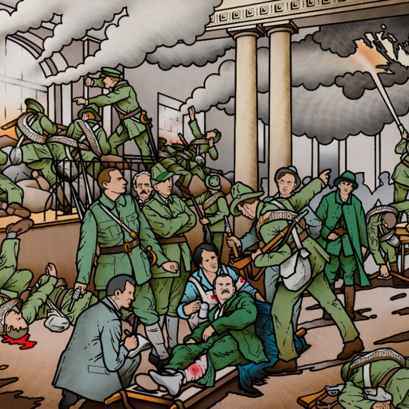 Robert Ballagh: Who Fears to Speak of the Republic? |  Kevin Kavanagh  Chancery Lane Dublin 8 | Thursday 10 March to Saturday 2 April 2016 | to