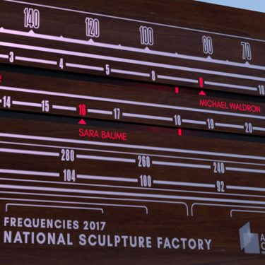 Frequencies Summer Lecture Series | National Sculpture Factory  Albert Road, Cork City | Wednesday 2 August to Wednesday 23 August 2017 | to