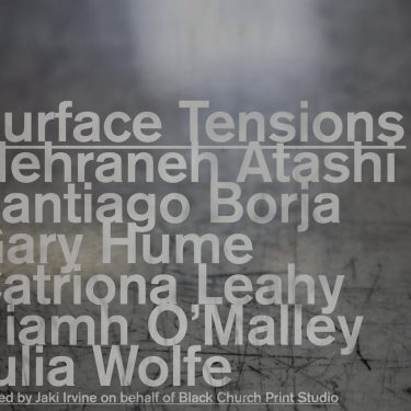 Surface Tensions | The Library Project  4 Temple Bar Dublin 2 | Friday 8 September to Saturday 23 September 2017 | to