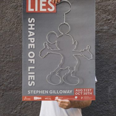 Stephen Gilloway: The Shape of Lies |  Garter Lane Arts Centre  O'Connell Street Waterford | Saturday 31 August 2019 | to