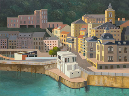 Stephen McKenna: San Sebastian, 2009, oil on canvas, 120 x 160cm | Stephen McKenna | Friday 10 September  – Saturday 16 October 2010 | Kerlin Gallery