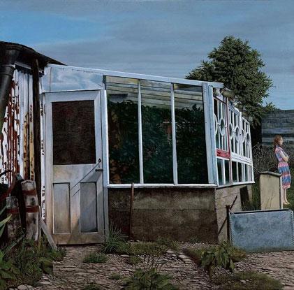 Martin Gale: Glasshouse, 1984, oil on canvas, 92x95cm; AIB Group Art Collection; image courtesy of the artist  | In Colour | Thursday 30 September  – Friday 26 November 2010 | Draíocht